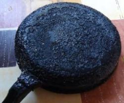 Очистить сковороду от нагара