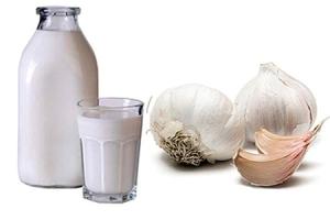 Молоко + чеснок от кашля