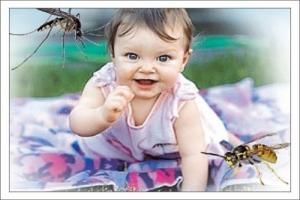 Защитить детей от насекомых
