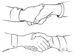 О чем может говорить рукопожатие