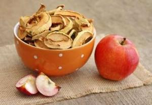 Яблоки сушеные и свежие
