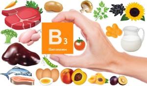В каких продуктах содержится витамин В3