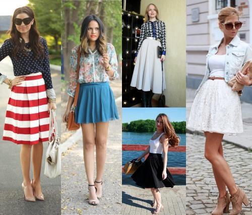 С чем можно носить юбку-солнце