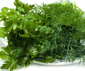 Зелень от запаха чеснока изо рта
