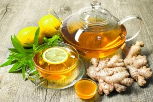 Чай с имбирем, медом, лимоном