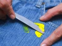 Как вывести краску с джинсов