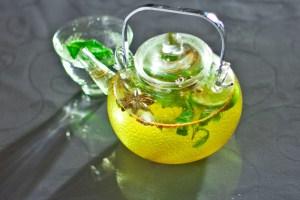 Зеленый чай с бадьяном