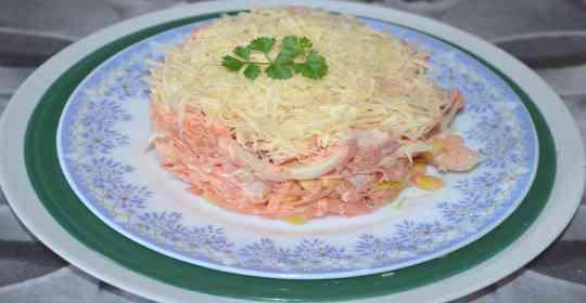 Салат из кальмаров, морковки и сыра-6